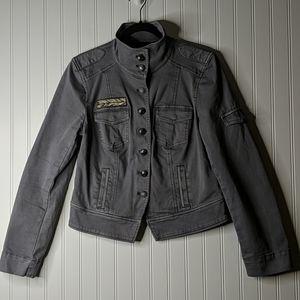 WHBM Gray Military Jacket